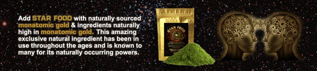 Star Food with Monatomic Gold 2 x 45g Life Minerals